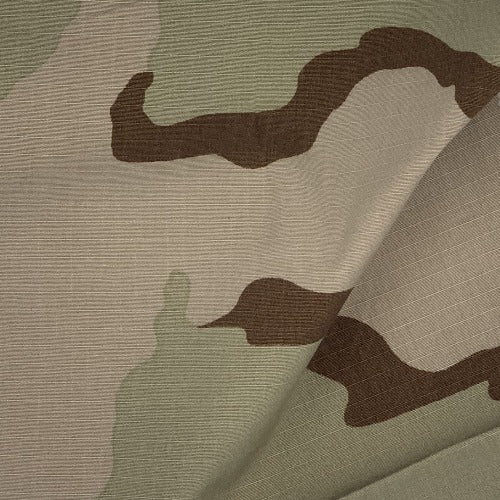 US Desert Camouflage Ripstop Print Woven Fabric - SKU 2968