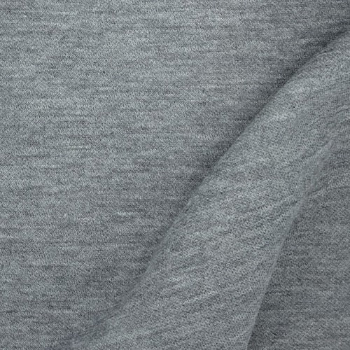 Grey Heather #S137 Interlock Knit Fabric - SKU 4337