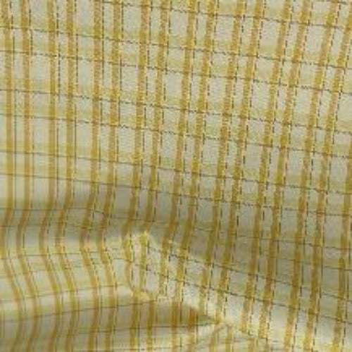 Yellow Ivory #S162 100% Cotton Yarn Dye Plaid Shirting-SKU 5927