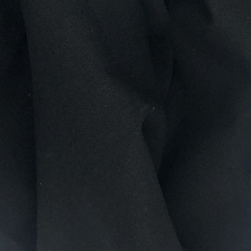 "Black Wool Suiting LOW PRICE By Burlington Industries ""Made In America"" Woven Fabric - SKU 6122 (10 Yard Lot Only $39.95)"