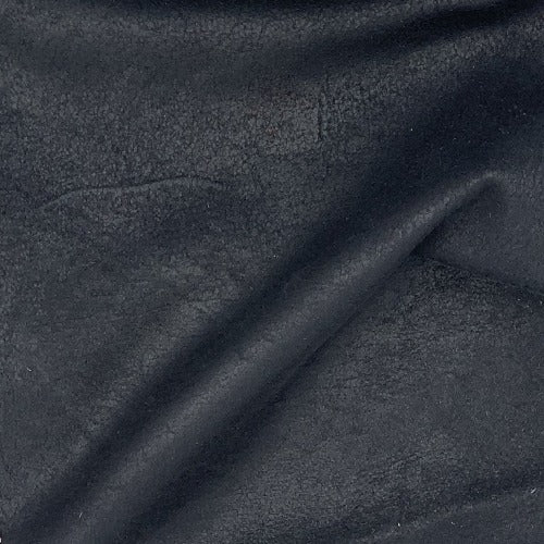 Black Italian Pleather Vinyl Woven Fabric - SKU 4661 Black