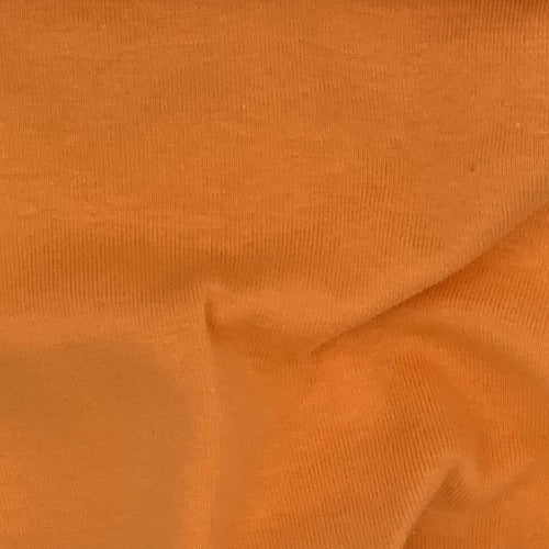 Orange Rib 100% Cotton Open Width Knit Fabric - SKU 4240