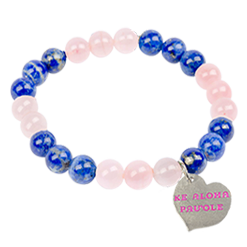 Lapis & Rose Quartz Beaded Mom Bracelet