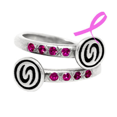 Pretty in Pink Infinity Band Ring