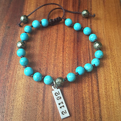 Turquoise Date Bracelet