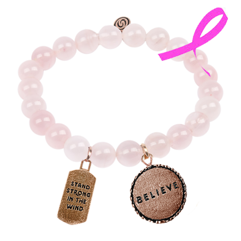Believe in Pink Beaded Bracelet