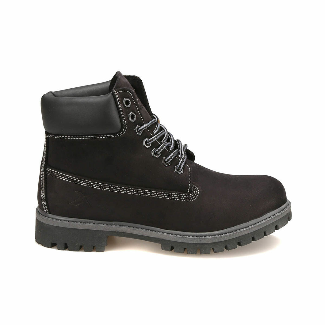 Black Men's Leather Worker Boots - Pat&Sons