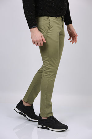 Men's Pocketed Green Pants - Pat&Sons