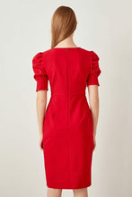 Load image into Gallery viewer, Bow Tie Detail Red Dress