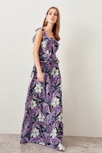 Load image into Gallery viewer, Floral Patterned Evening Dress