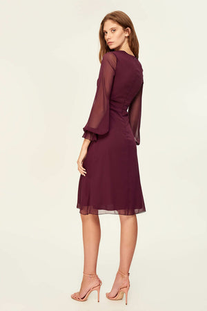 Damson Shirred Waist Dress