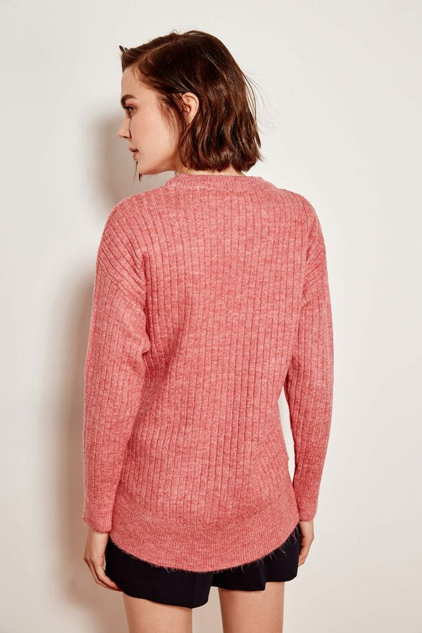 Dusty Rose Tricot Pullover