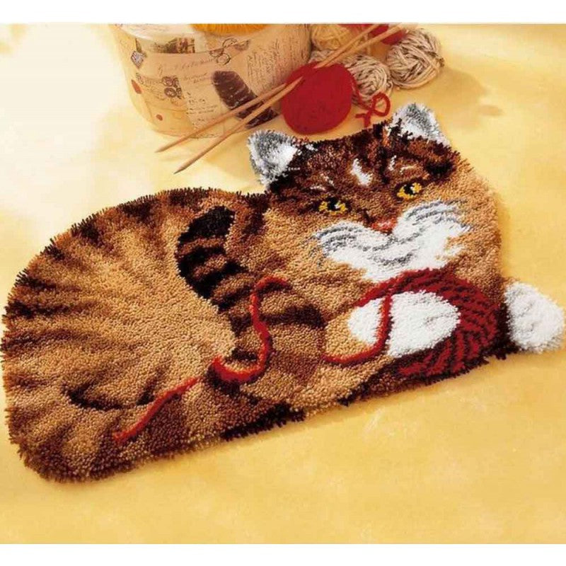 DIY Cat Latch Hook Rug Kit