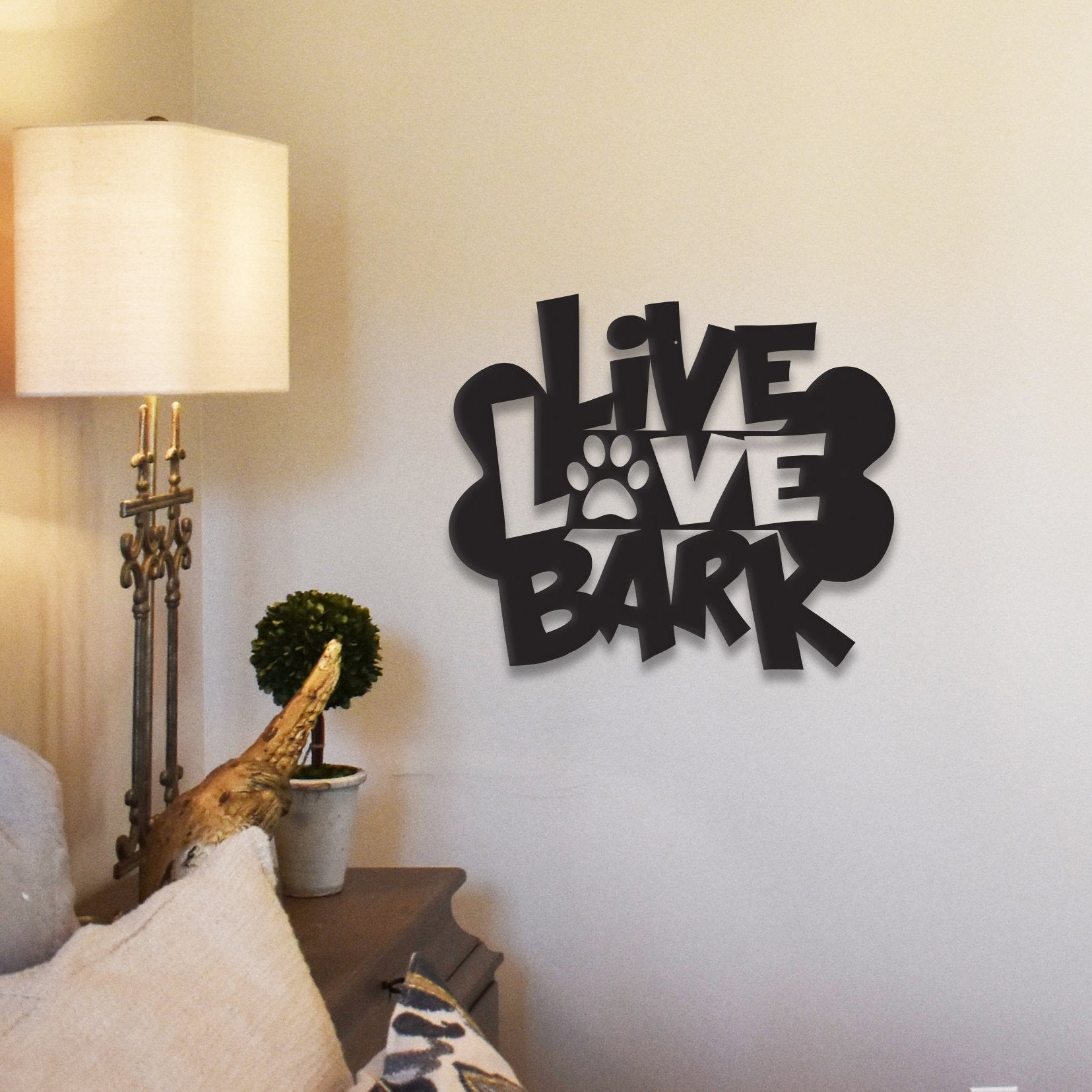 Live Love Bark - Metal Wall Decor