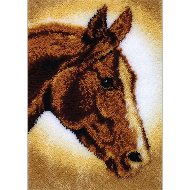 Emroidery DIY Horse Latch Hook Rug Kit