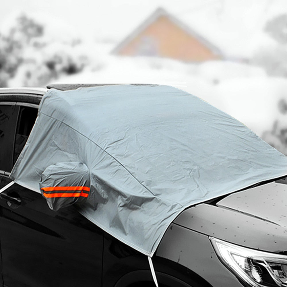 Winter Windshield Snow Cover