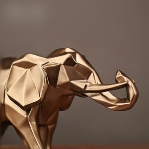 Abstract Golden Elephant Ornament - Pat&Sons