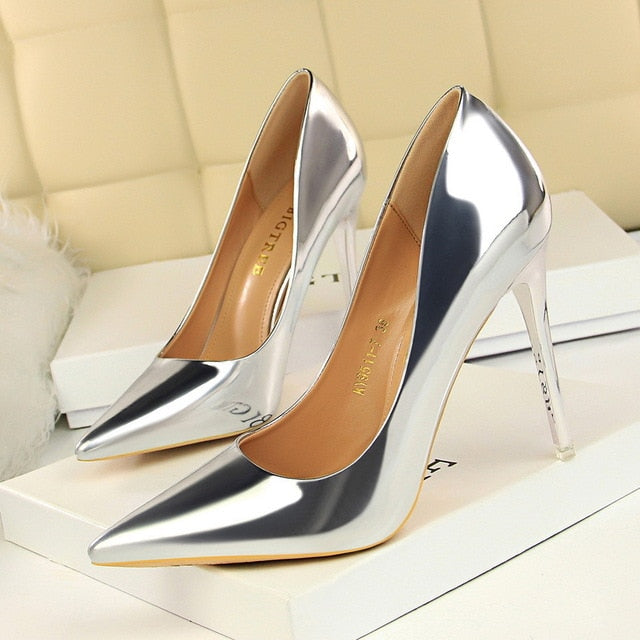 Patent Leather Thin Heels - Pat&Sons