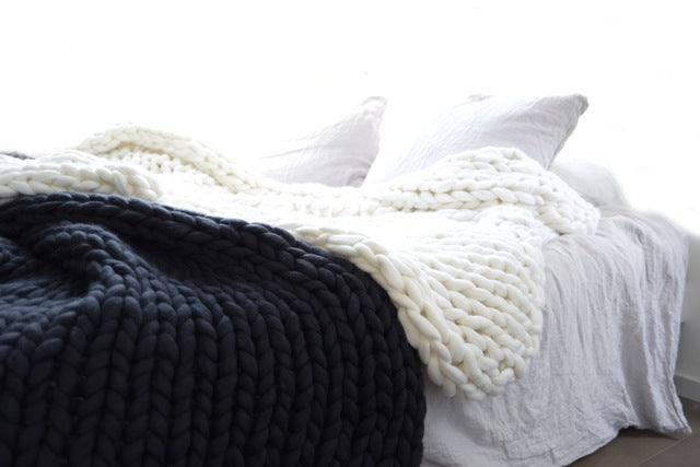 Chunky Knitted Blanket - Pat&Sons