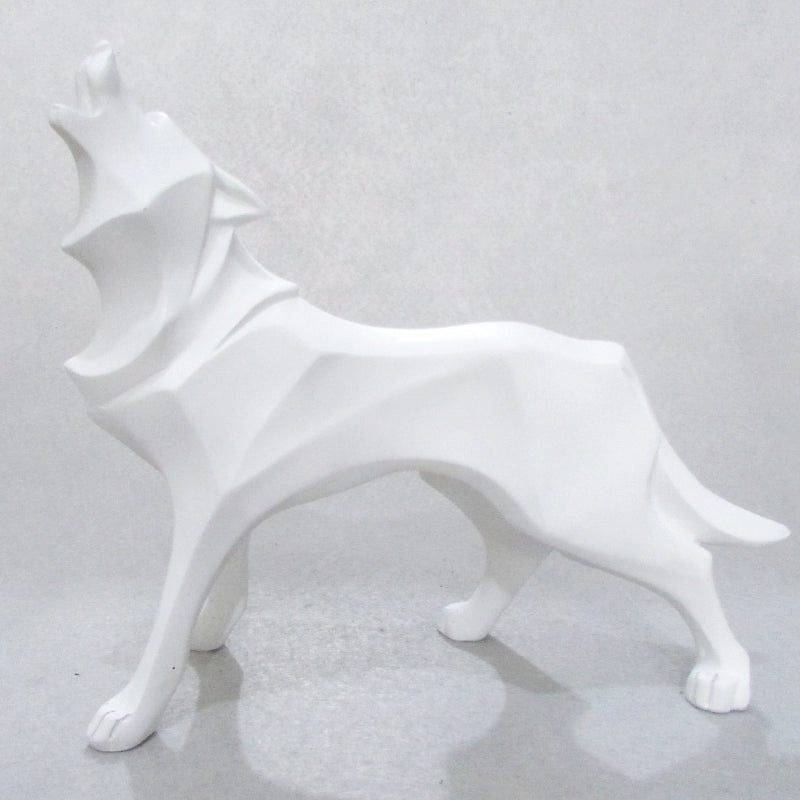 Abstract Totem Wolf Statue