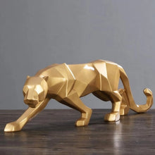 Load image into Gallery viewer, Leopard/Black Panther Geometric Statue