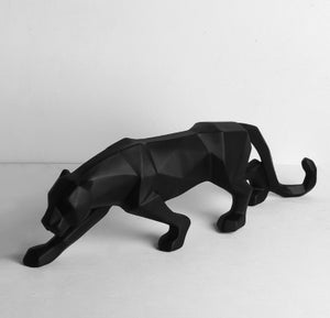 Leopard/Black Panther Geometric Statue