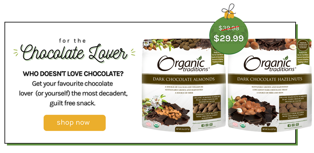 chocolate lover bundle organic traditions limited edition superfood bundle with chocolate covered almonds and chocolate covered hazelnuts