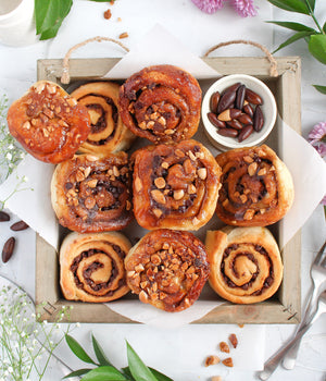Chocolate Chip & Baru Seed Sticky Buns