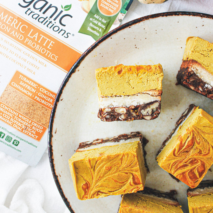 Golden Pumpkin Cheesecake Bars
