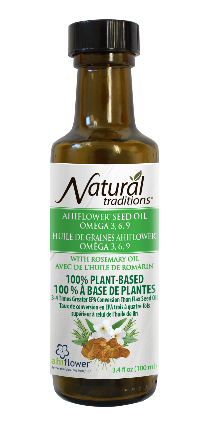 Natural Traditions Ahiflower® Seed Oil with Rosemary Oil