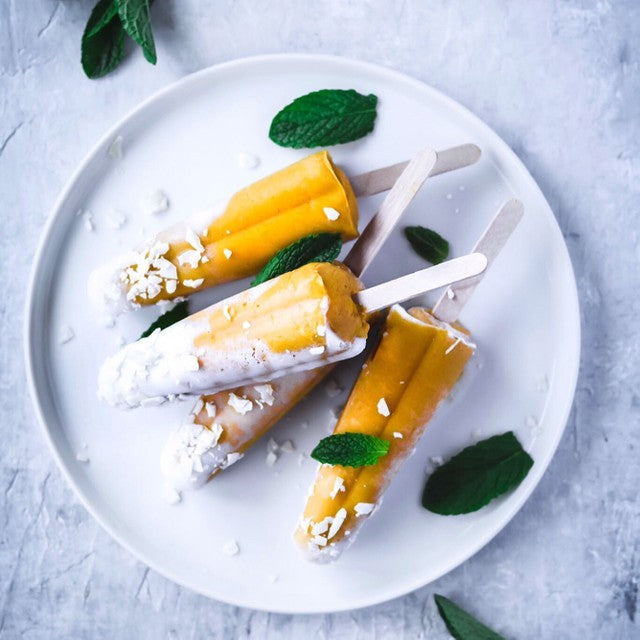 Tropical Mango Coconut Popsicles