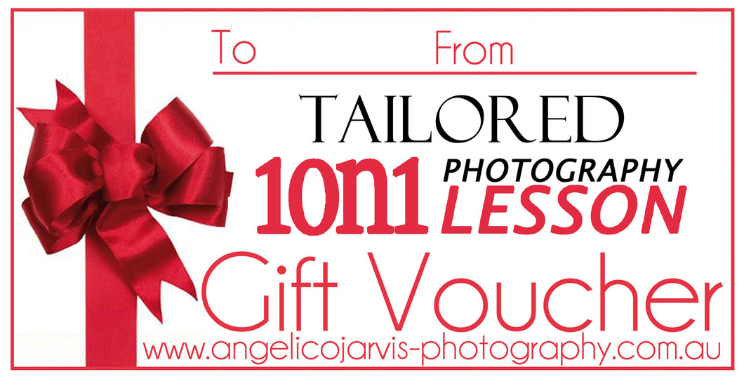 Complete One Hour - Photography/ Editorial Lesson - Gift Voucher