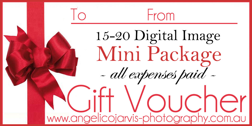 Complete Mini Family Package - Gift Voucher *15-20 Images Inc*