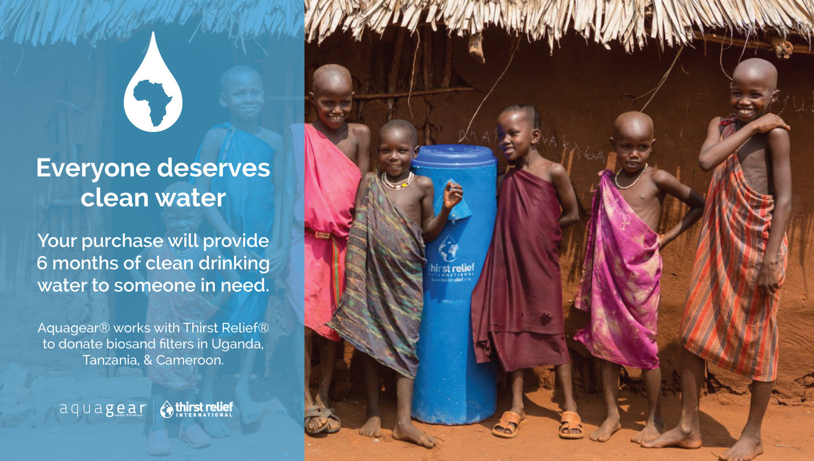Aquagear Giving - Thirst Relief International Partnership