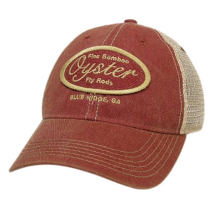 cardinal oyster bamboo fly rod trucker hat