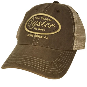 Khaki Legacy old favorite trucker Hat Oyster Bamboo Fly Rods