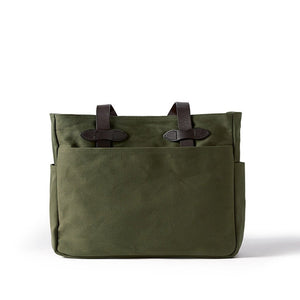 Otter Green Filson Tote Bag without Zipper Oyster Bamboo Fly Rods