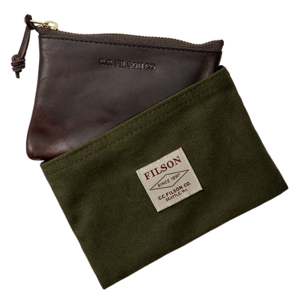 filson leather pouch oyster bamboo fly rods gift
