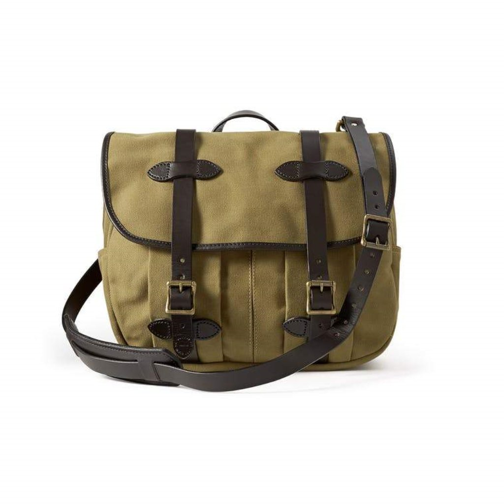 Filson Field Bag Oyster Bamboo Fly Rods