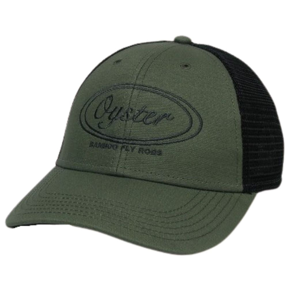 Olive trucker oyster bamboo fly rods hat