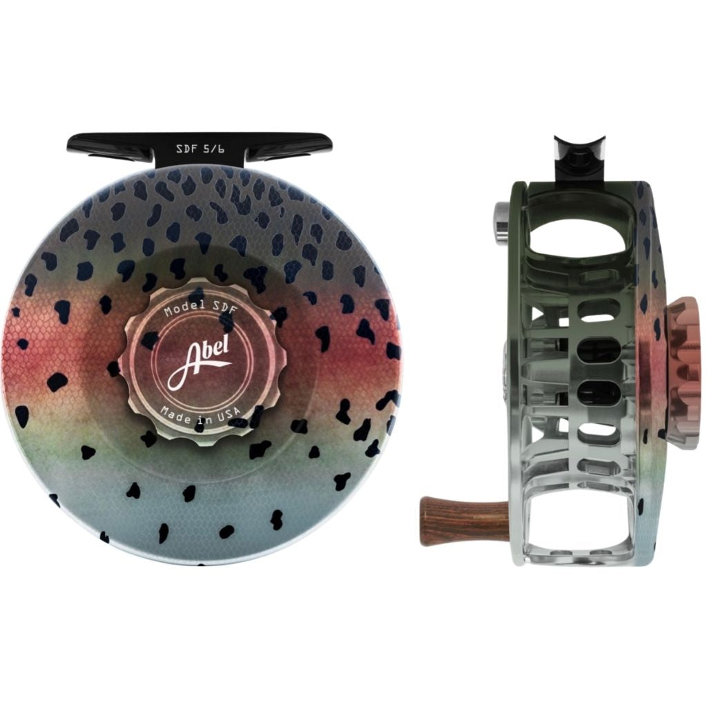 native rainbow trout abel sdf reel and drag knob