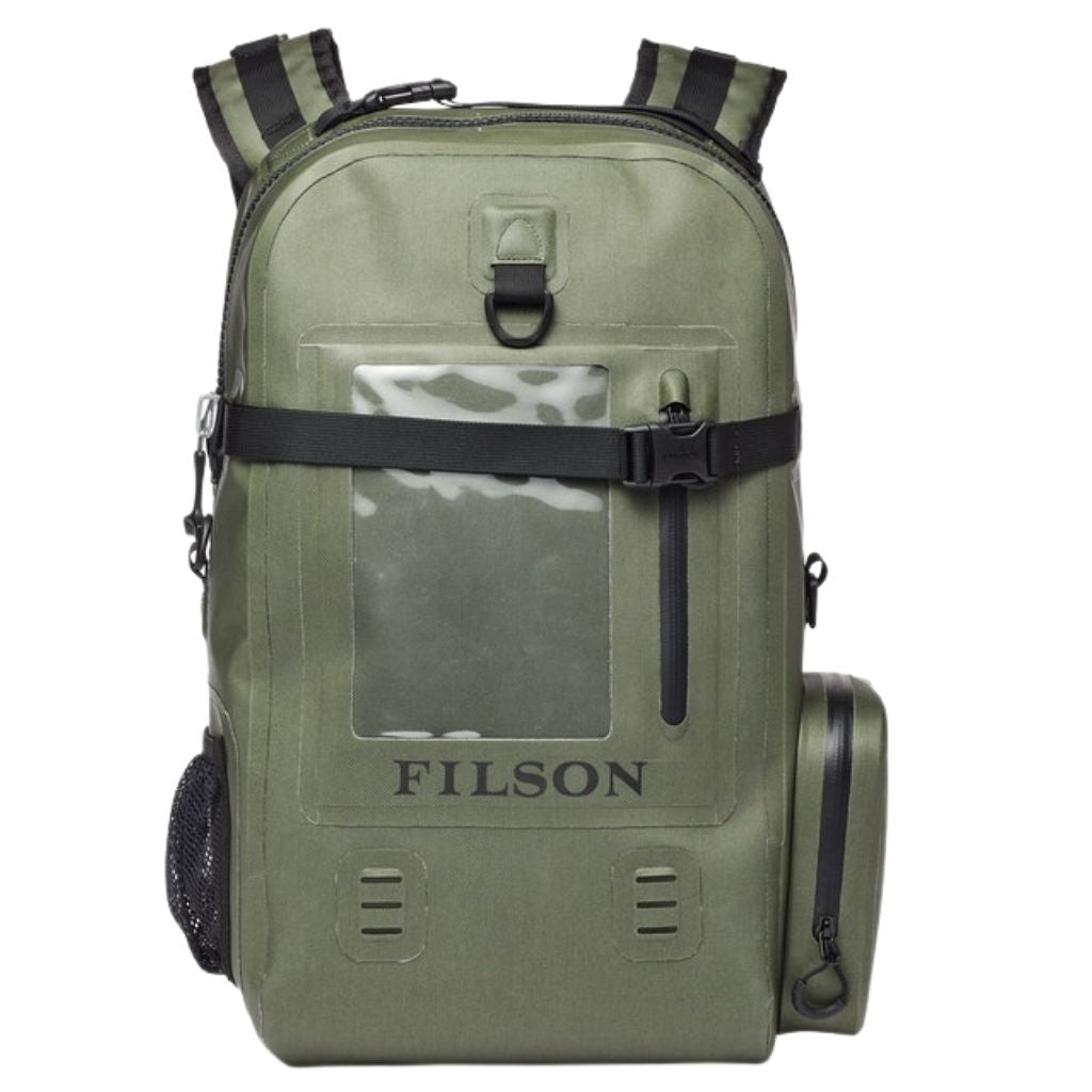 filson dry backpack sold at oyster bamboo fly rods