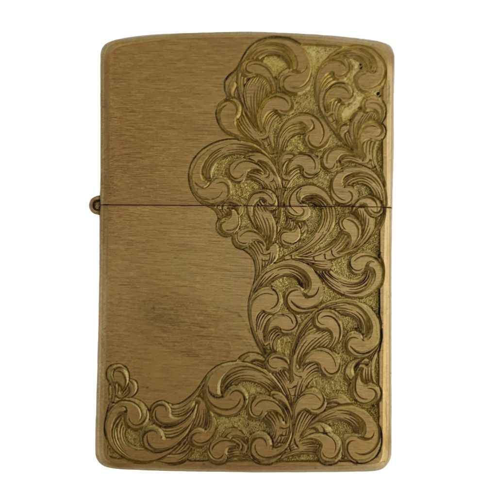 hand engraved lighter by bill oyster signature scroll one of one