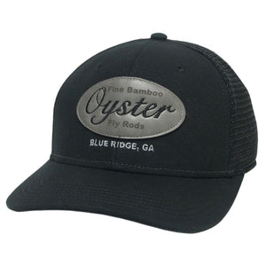 black leather patch mid pro snapback oyster bamboo fly rods trucker hat