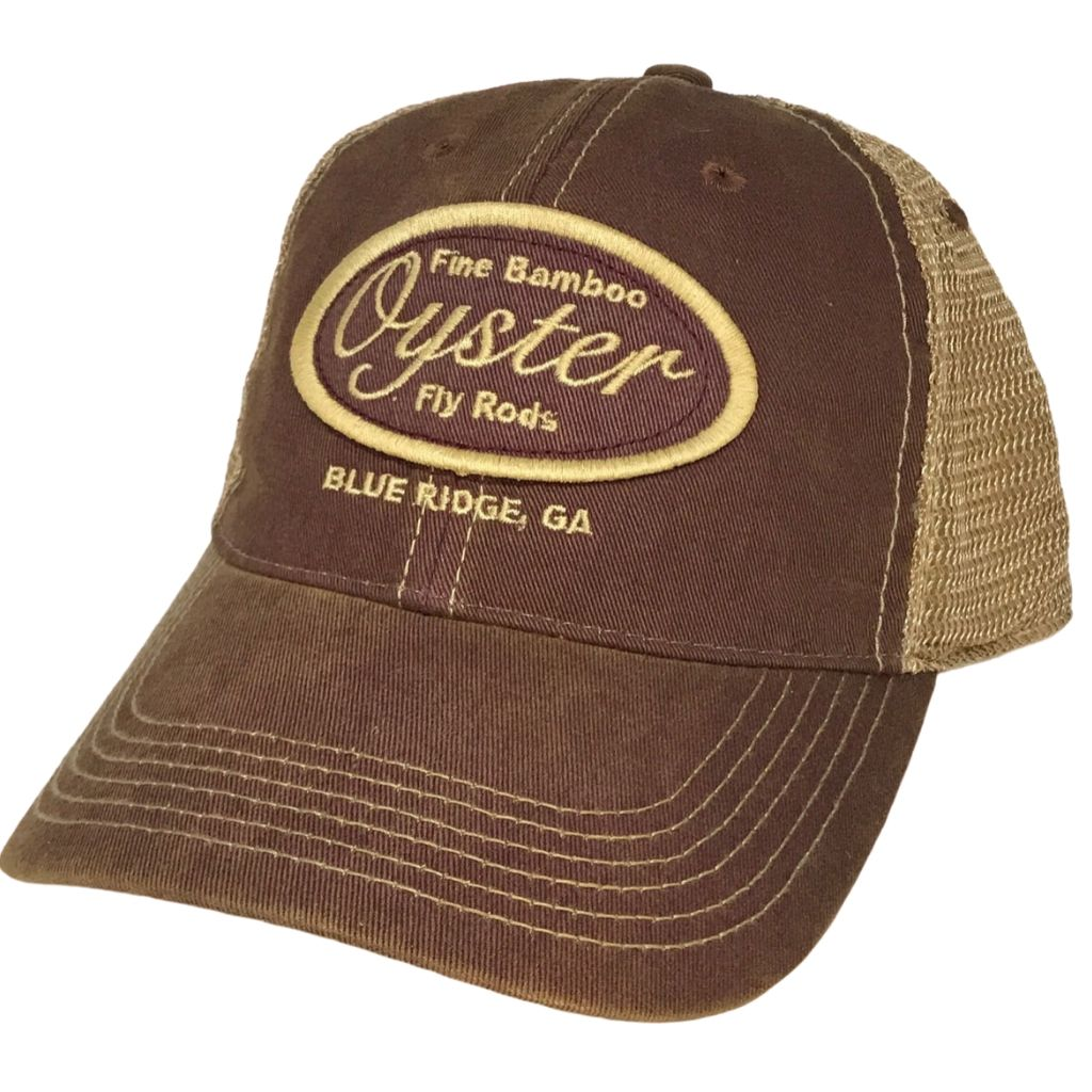 Burgundy Legacy Old favorite trucker Hats Oyster Bamboo Fly Rods