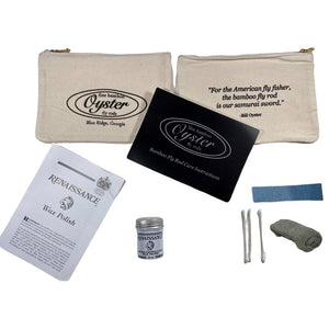 Oyster Bamboo Fly Rod care kit for fly rods
