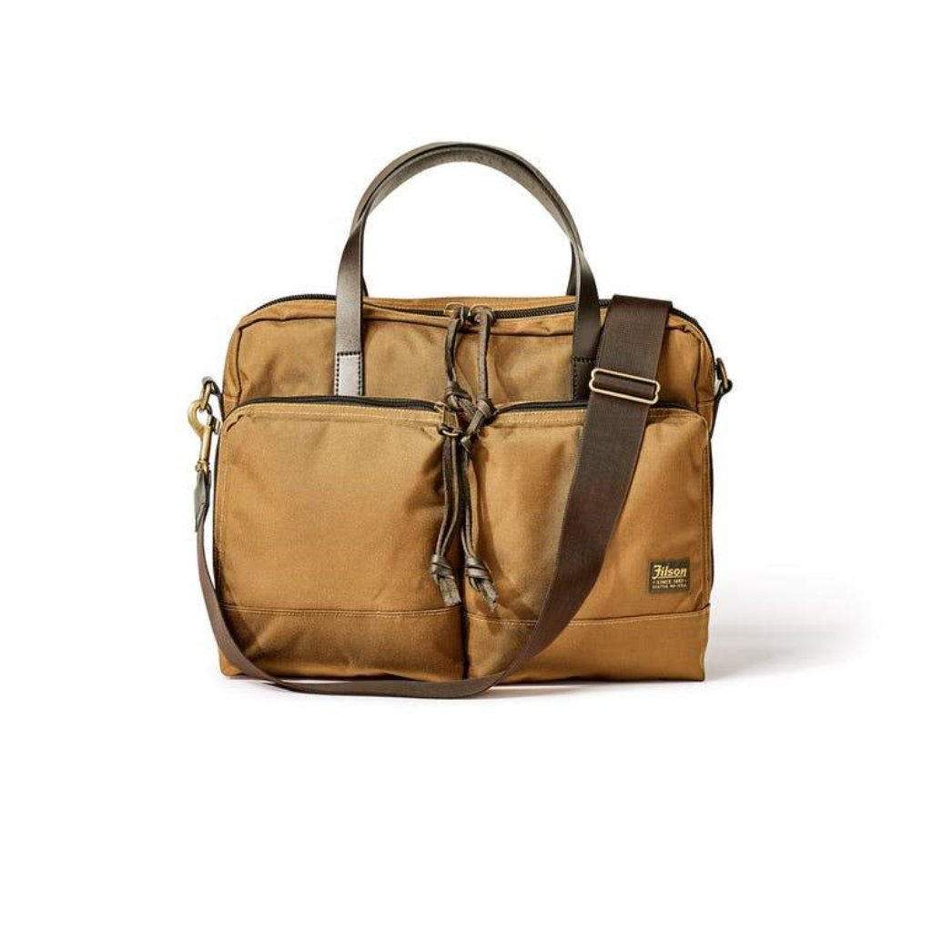 Filson DryDen Briefcase Oyster Bamboo Fly Rods Gift