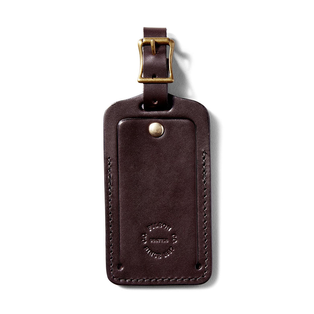 Filson Leather Luggage Tag Oyster Bamboo Fly Rods