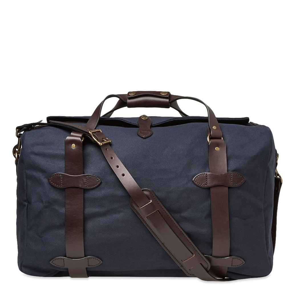 Filson Medium Navy Duffle Oyster Bamboo Fly Rods