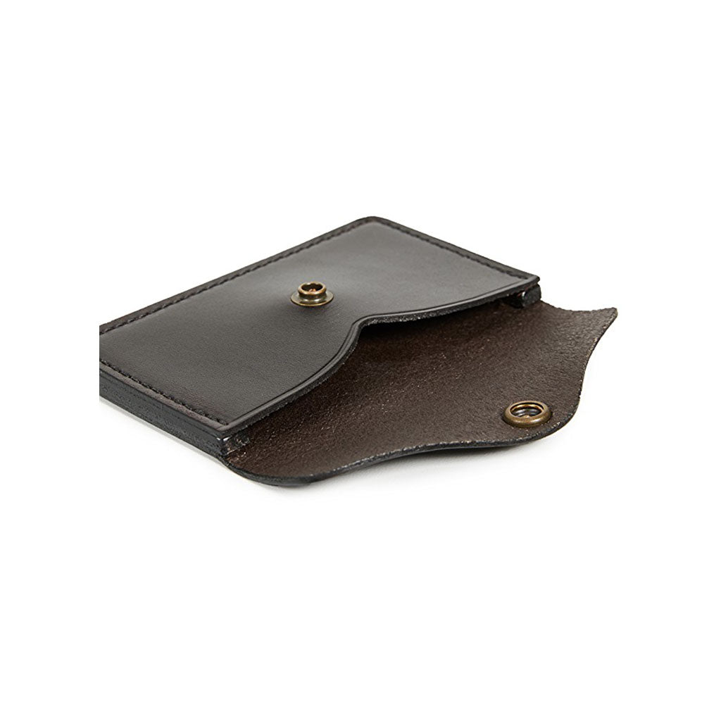 Filson Brown Leather Snap Wallet Oyster Bamboo Fly Rods